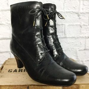 Victorian Steam Punk Goth Gypsy Leather Booties